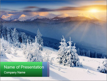 Majestic sunset PowerPoint Template - Slide 1