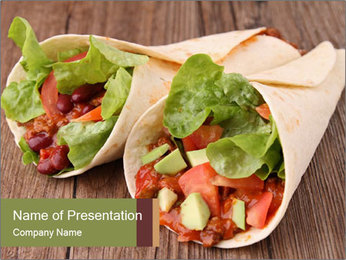 Burrito PowerPoint Template - Slide 1