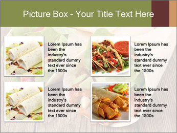 Burrito PowerPoint Template - Slide 14