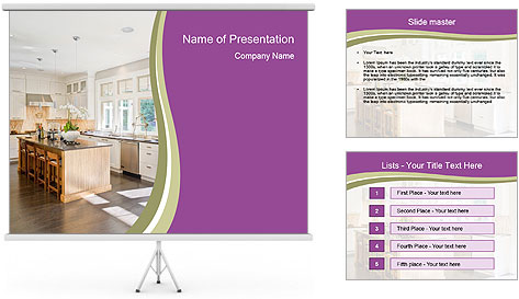 Modern Kitchen PowerPoint Template