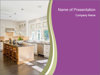 Modern Kitchen PowerPoint Template - Slide 1