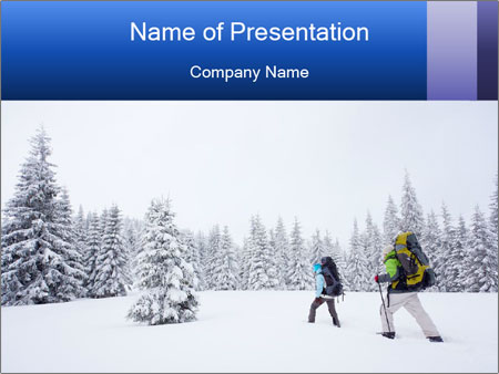 Winter forest PowerPoint Templates
