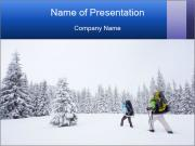 Winter forest PowerPoint Template