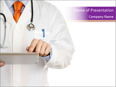 Doctor working PowerPoint Templates