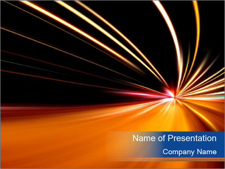 Rapid race PowerPoint Template
