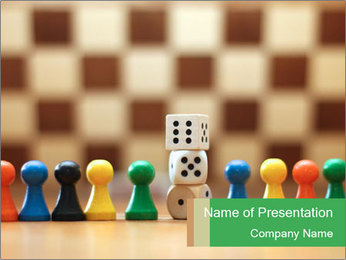 Pieces and Dices PowerPoint Template - Slide 1