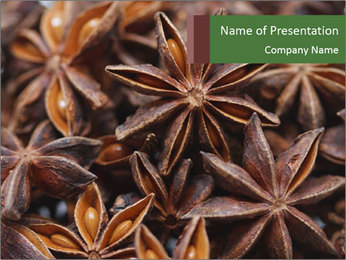 Star anise PowerPoint Template