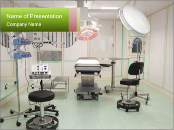 Empty operation room PowerPoint Template