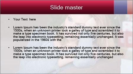 Sad woman PowerPoint Template - Slide 2