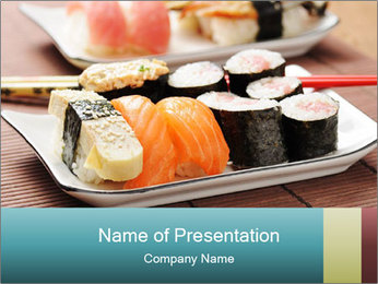 Sushi set PowerPoint Template - Slide 1