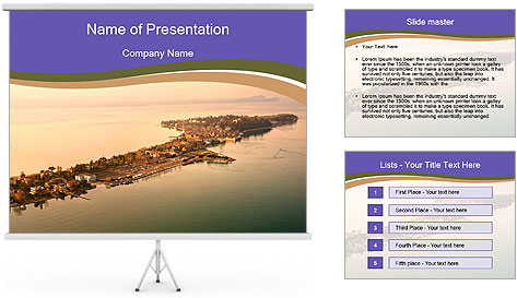 Aerial view PowerPoint Template