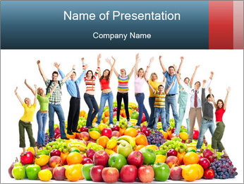 Group of happy people PowerPoint Template