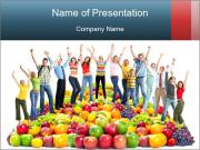 Group of happy people PowerPoint Templates