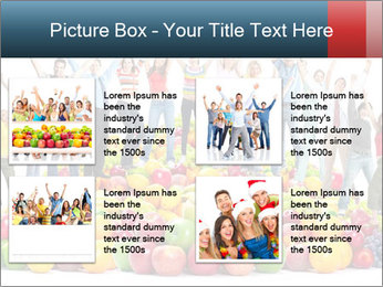Group of happy people PowerPoint Template - Slide 14