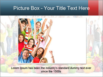 Group of happy people PowerPoint Template - Slide 15