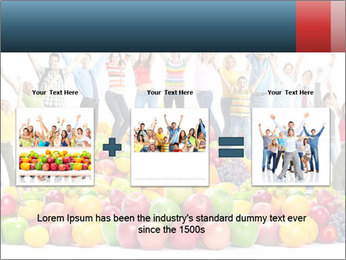Group of happy people PowerPoint Template - Slide 22