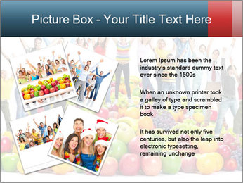Group of happy people PowerPoint Template - Slide 23
