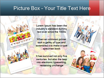 Group of happy people PowerPoint Template - Slide 24