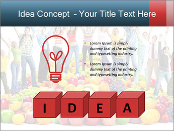 Group of happy people PowerPoint Template - Slide 80