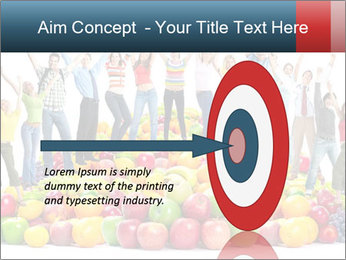 Group of happy people PowerPoint Template - Slide 83