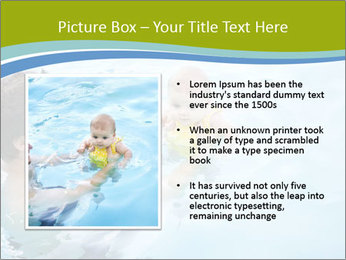 Baby's first swim PowerPoint Template - Slide 13