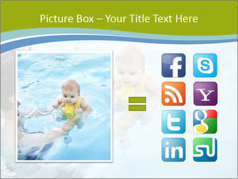 Baby's first swim PowerPoint Template - Slide 21