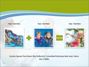 Baby's first swim PowerPoint Template - Slide 22