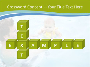 Baby's first swim PowerPoint Template - Slide 82
