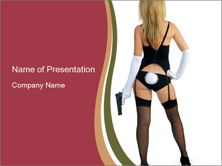 Dangerous rabbit PowerPoint Template