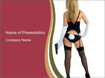 Dangerous rabbit PowerPoint Template - Slide 1