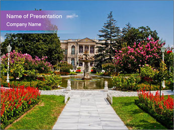 Dolmabahce Palace PowerPoint Templates - Slide 1