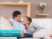 Couple on the sofa in love PowerPoint Templates