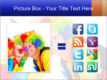Two smiling clowns PowerPoint Template - Slide 21