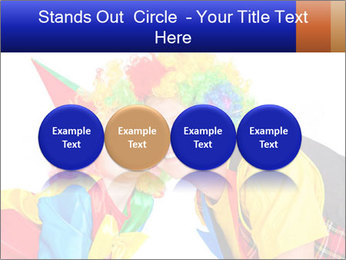 Two smiling clowns PowerPoint Template - Slide 76