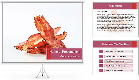 Strips of bacon PowerPoint Template