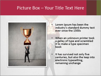 Triumphing businessman PowerPoint Template - Slide 13