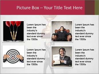 Triumphing businessman PowerPoint Template - Slide 14