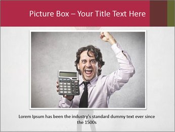 Triumphing businessman PowerPoint Template - Slide 15