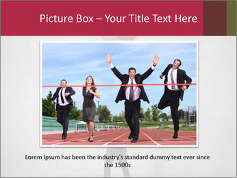 Triumphing businessman PowerPoint Template - Slide 16