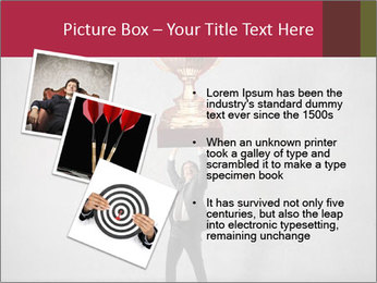 Triumphing businessman PowerPoint Template - Slide 17