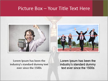Triumphing businessman PowerPoint Template - Slide 18