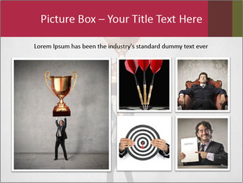 Triumphing businessman PowerPoint Template - Slide 19