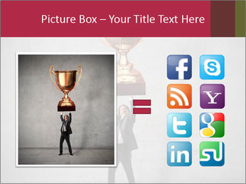 Triumphing businessman PowerPoint Template - Slide 21