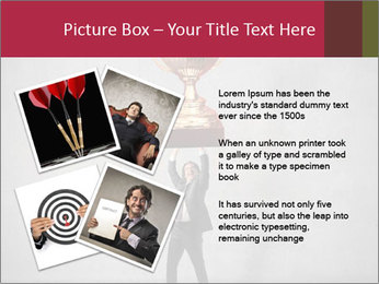 Triumphing businessman PowerPoint Template - Slide 23
