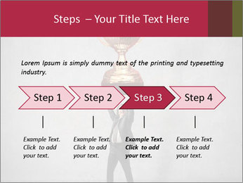 Triumphing businessman PowerPoint Template - Slide 4