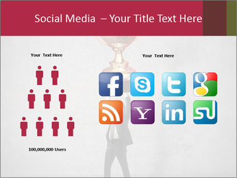Triumphing businessman PowerPoint Template - Slide 5