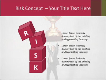 Triumphing businessman PowerPoint Template - Slide 81