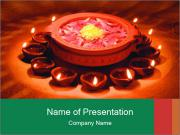 Indian oil lamp PowerPoint Templates