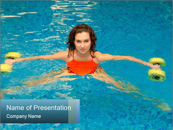 Woman trains PowerPoint Template