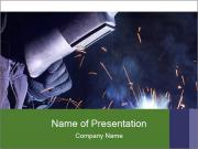 Welding and bright sparks PowerPoint Templates